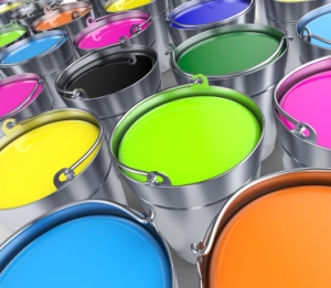 Paint buckets, Lisa Kamen, What Is Your Happiness
